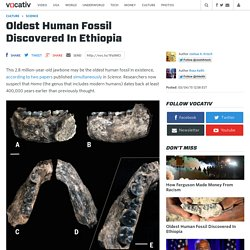 Oldest Human Fossil Discovered In Ethiopia