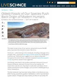 Oldest Fossils of Our Species Push Back Origin of Modern Humans