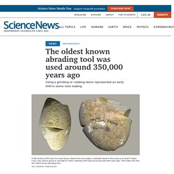 The oldest known abrading tool was used around 350,000 years ago