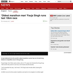 'Oldest marathon man' Fauja Singh runs last 10km race