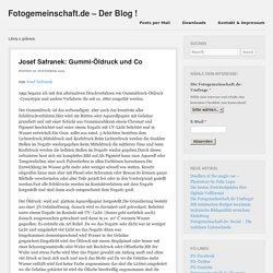 Gummi-Öldruck und CoFotogemeinschaft.de – Der Blog !