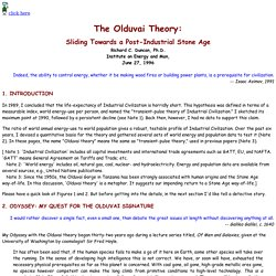 Olduvai Theory: Sliding Towards a Post-Industrial Stone Age, by Richard Duncan
