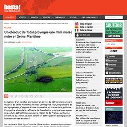 Un oléoduc de Total provoque une mini marée noire en Seine-Maritime