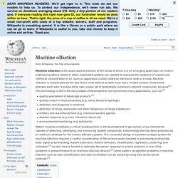 Machine olfaction