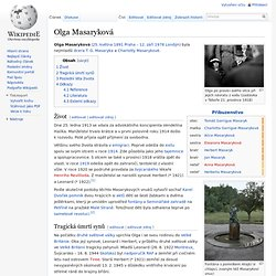 Olga Masaryková