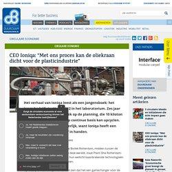 """Ioniqa: """"De oliekraan dicht voor de plasticindustrie"""""""
