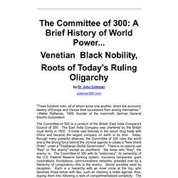 Oligarchy - Venetian Black Nobility