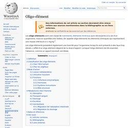 Oligo-élément
