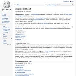 Oligoclonal band - Wiki
