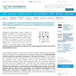 New insights on the potential of gut bacteria and breast milk oligosaccharides to prevent childhood malnutrition - Gut Microbiota for Health