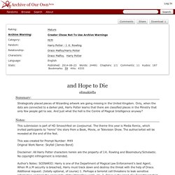 and Hope to Die - olimakiella - Harry Potter - J. K. Rowling [Archive of Our Own]