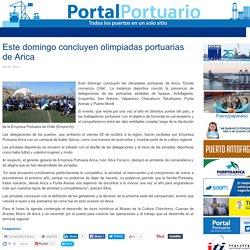 Este domingo concluyen olimpiadas portuarias de Arica