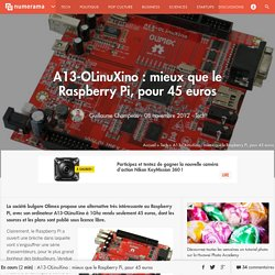 A13-OLinuXino : mieux que le Raspberry Pi, pour 45 euros