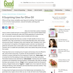 Olive Oil Benefits &150; Olive Oil Uses &150; Olive Oils - The Da...