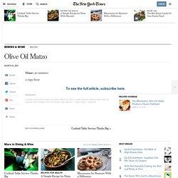IHM Olive Oil Matzo