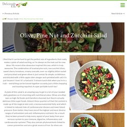 Olive, Pine Nut and Zucchini Salad