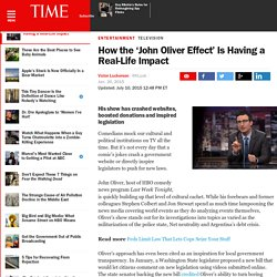 How the 'John Oliver Effect' Is Having a Real-Life Impact