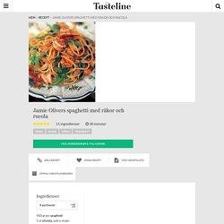 Jamie Olivers spaghetti med räkor och rucola - Recept - Tasteline