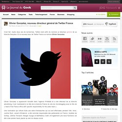 Olivier Gonzalez, nouveau directeur général de Twitter France