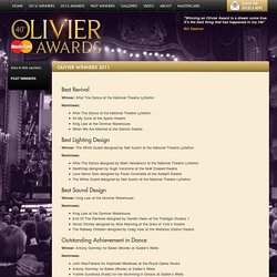 Olivier Winners 2011 – Laurence Oliviers 2015