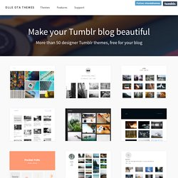 Brilliant free Tumblr themes