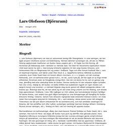 Lars Olofsson (Björnram) - Svenskt Biografiskt Lexikon
