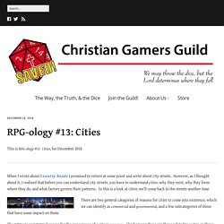 RPG-ology #13: Cities – Christian Gamers Guild