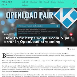 How to fix  & pair error in OpenLoad streaming