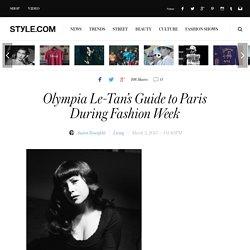 Olympia Le-Tan Interview - Paris Fashion Week Guide