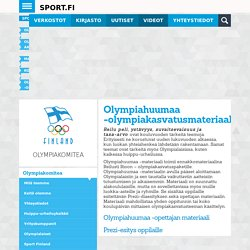 Olympiakomitea - Olympia-Akatemia - Materiaalit - Kouluille - Olympiahuumaa -olympiakasvatusmateriaali - Sport.fi
