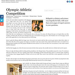 Olympic Athletic Competition - Ancient Greece for Kids