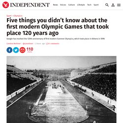 Five things you didn't know about the first modern Olympic Games that took place 120 years ago