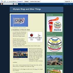 Olympic Rings and Other Things: July 2015