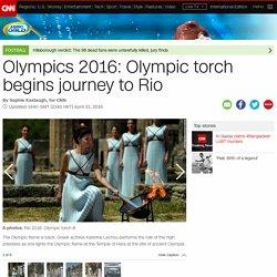 Olympics 2016: Torch begins journey to Brazil