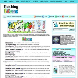 Teaching Themes - The Olympics