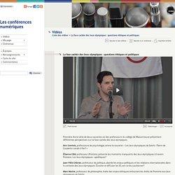 La face cachée des Jeux olympiques : questions éthiques et politiques - Les conférences numériques - CCDMD