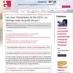 Les Jeux Olympiques de Rio 2016 : un héritage mais au profit de qui