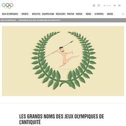 Les grands noms des Jeux Olympiques de l'Antiquité