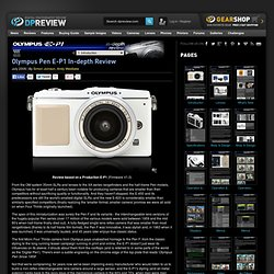 Olympus E-P1 Review: 1. Introduction