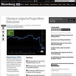 Olympus Urged to Purge More Executives