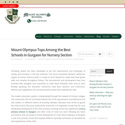Mount Olympus Tops Among the Best Schools in Gurgaon for Nursery Section