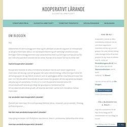 Om bloggen – Kooperativt lärande