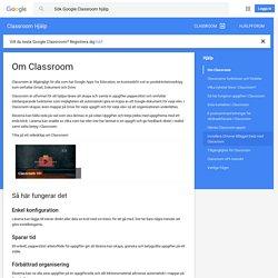 Om Classroom - Classroom Hjälp