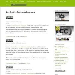 Om Creative Commons licenserna
