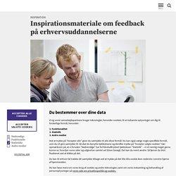 Inspirationsmateriale om feedback på erhvervsuddannelserne
