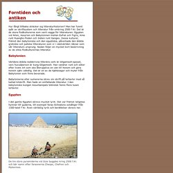 Om forntiden och antiken