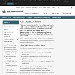 Om grænseværdier - Miljøstyrelsen