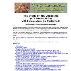The Story of the Volsungs (Volsunga Saga)