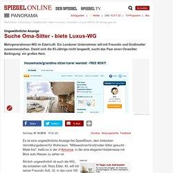Ungewöhnliche Anzeige: Suche Oma-Sitter - biete Luxus-WG - SPIEGEL ONLINE - N...