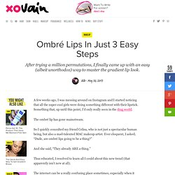 Ombré Lips In Just 3 Easy Steps